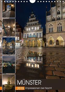 Münster – Impressionen bei Nacht (Wandkalender 2019 DIN A4 hoch) von Herzog,  Gregor