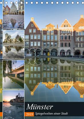 Münster – Spiegelwelten einer Stadt (Tischkalender 2019 DIN A5 hoch) von Herzog,  Gregor