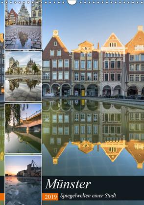 Münster – Spiegelwelten einer Stadt (Wandkalender 2019 DIN A3 hoch) von Herzog,  Gregor