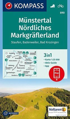 Münstertal, Nördliches Markgräflerland, Staufen, Badenweiler, Bad Krozingen von KOMPASS-Karten GmbH