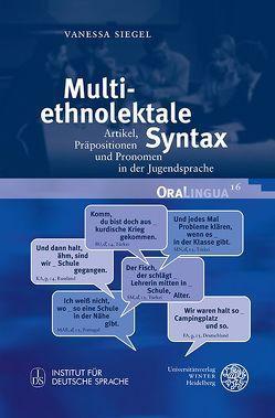 Multiethnolektale Syntax von Siegel,  Vanessa