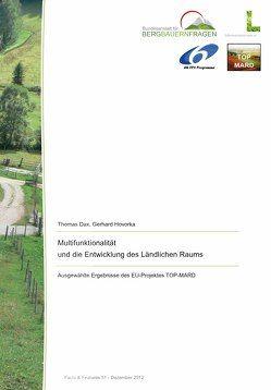 Multifunktionalität und die Entwicklung des Ländlichen Raums von Dax,  Thomas, Hovorka,  Gerhard