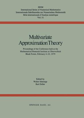 Multivariate Approximation Theory von SCHEMPP, ZELLER