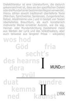 Mundart I Lyrik II von Bacowsky,  Helmut