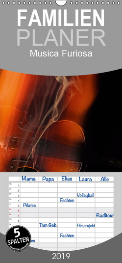 Musica Furiosa – Familienplaner hoch (Wandkalender 2019 , 21 cm x 45 cm, hoch) von Kraetschmer,  Marion