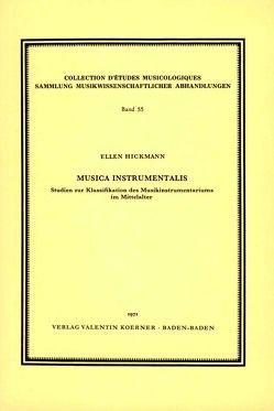 Musica instrumentalis von Hickmann,  Ellen