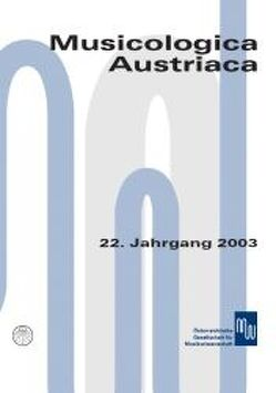 Musicologica Austriaca. Jahresschrift der Österreichischen Gesellschaft… / Musik in der Lebenswelt des Mittelalters von Lindmayr-Brandl,  Andrea