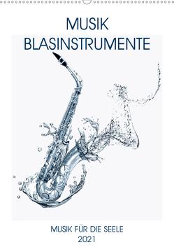 Musik Blasinstrumente (Wandkalender 2021 DIN A2 hoch) von Voßen - Herzog von Laar am Rhein,  W.W.