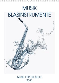 Musik Blasinstrumente (Wandkalender 2021 DIN A3 hoch) von Voßen - Herzog von Laar am Rhein,  W.W.