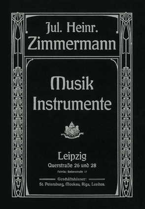 Musik-Instrumente-Katalog von Joppig,  Günther, Zimmermann,  Julius H