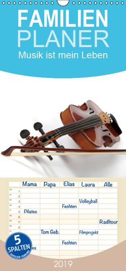 Musik ist mein Leben – Familienplaner hoch (Wandkalender 2019 , 21 cm x 45 cm, hoch) von Eppele,  Klaus