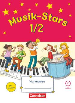 Musik-Stars – Grundwissen / 1./2. Schuljahr – Übungsheft mit Lösungen und Audio-CD von Wezel,  Solveig