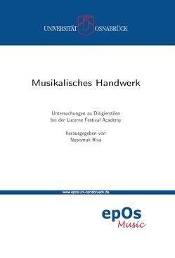 Musikalisches Handwerk von Riva,  Nepomuk