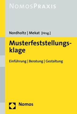 Musterfeststellungsklage von Mekat,  Martin, Nordholtz,  Christian