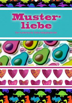 Musterliebe (Wandkalender 2021 DIN A2 hoch) von B-B Müller,  Christine