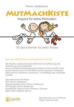Mutmachkiste von Stöbbauer,  Marion