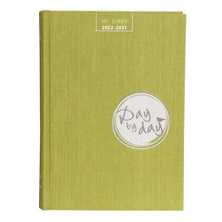 """My Diary 2022-2031 """"Day by Day"""" lime green von Wiermer,  Hubert"""