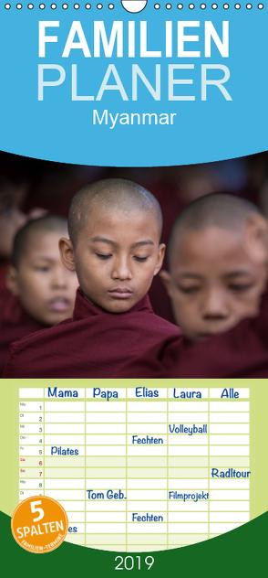 Myanmar 2019 – Familienplaner hoch (Wandkalender 2019 , 21 cm x 45 cm, hoch) von Rusch,  Winfried
