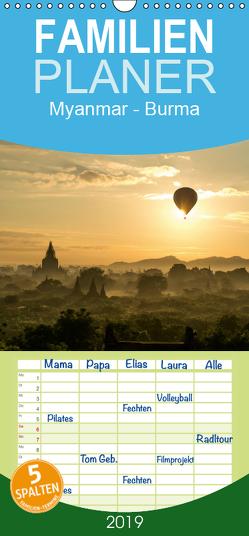 Myanmar – Burma – Familienplaner hoch (Wandkalender 2019 , 21 cm x 45 cm, hoch) von Schickert,  Peter