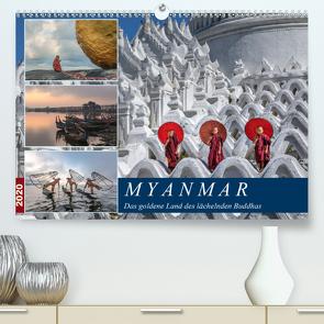 Myanmar, das goldene Land des lächelnden Buddhas (Premium, hochwertiger DIN A2 Wandkalender 2020, Kunstdruck in Hochglanz) von Kruse,  Joana