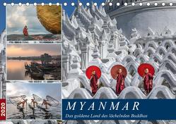 Myanmar, das goldene Land des lächelnden Buddhas (Tischkalender 2020 DIN A5 quer) von Kruse,  Joana