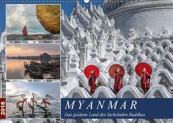 Myanmar, das goldene Land des lächelnden Buddhas (Wandkalender 2018 DIN A2 quer) von Kruse,  Joana