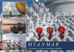 Myanmar, das goldene Land des lächelnden Buddhas (Wandkalender 2018 DIN A3 quer) von Kruse,  Joana