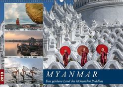 Myanmar, das goldene Land des lächelnden Buddhas (Wandkalender 2019 DIN A2 quer) von Kruse,  Joana