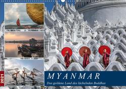 Myanmar, das goldene Land des lächelnden Buddhas (Wandkalender 2021 DIN A2 quer) von Kruse,  Joana