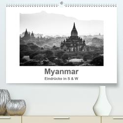 Myanmar – Eindrücke in S & W (Premium, hochwertiger DIN A2 Wandkalender 2020, Kunstdruck in Hochglanz) von Knappmann,  Britta