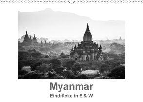 Myanmar – Eindrücke in S & W (Wandkalender 2018 DIN A3 quer) von Knappmann,  Britta