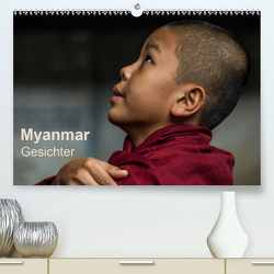 Myanmar – Gesichter (Premium, hochwertiger DIN A2 Wandkalender 2020, Kunstdruck in Hochglanz) von Knappmann,  Britta