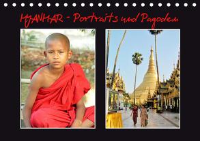 Myanmar – Portraits und Pagoden (Tischkalender 2020 DIN A5 quer) von Affeldt,  Uwe