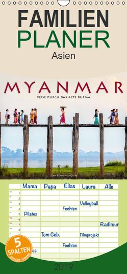 Myanmar – Reise durch das alte Burma – Familienplaner hoch (Wandkalender 2019 , 21 cm x 45 cm, hoch) von Benninghofen,  Jens