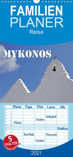 MYKONOS – Insel des Jetset – Familienplaner hoch (Wandkalender 2021 , 21 cm x 45 cm, hoch) von Blume,  Hubertus