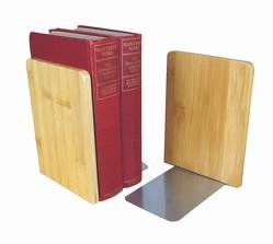 MyLibrary Buchstützen Bookends aus Holz – 2-teiliges Set