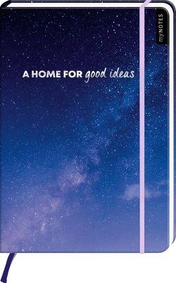 myNOTES A home for good ideas – Notizbuch im Maxiformat für Träume, Pläne und Ideen