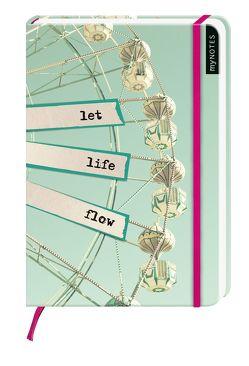 myNOTES: Let Life Flow / Notizbuch groß / Blanko