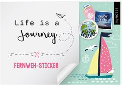 myNOTES Life is a Journey – Stickerheft mit Reise- und Fernweh-Stickern