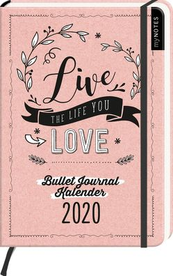 myNOTES Live the life you love Bullet Journal Kalender 2020