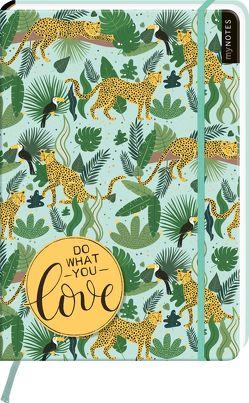 myNOTES Notizbuch A4: Do what you love – notebook large, dotted – für Träume, Pläne und Ideen / ideal als Bullet Journal oder Tagebuch