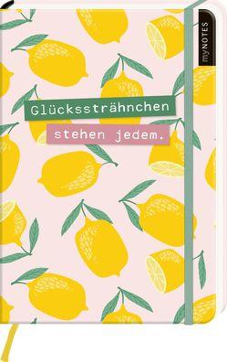 myNOTES Notizbuch A5: Glückssträhnchen stehen jedem – notebook medium, dotted – für Träume, Pläne und Ideen / ideal als Bullet Journal oder Tagebuch