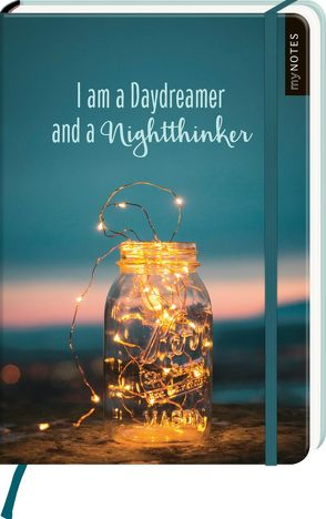 myNOTES Notizbuch A5: I am a Daydreamer and a Nightthinker – notebook medium, dotted – für Träume, Pläne und Ideen / ideal als Bullet Journal oder Tagebuch