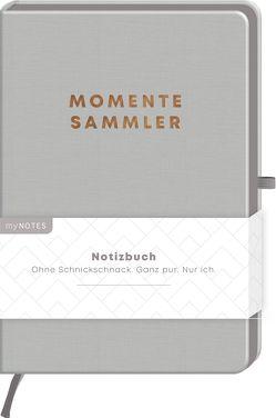 myNOTES Notizbuch Classics Momentesammler – Notizbuch im Mediumformat für Träume, Pläne und Ideen