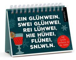 myNOTES Postkarten-Adventskalender / Ein Glühwein, swei Glühwei, rei Lühwei …