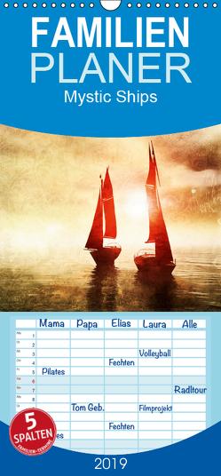 Mystic Ships – Familienplaner hoch (Wandkalender 2019 , 21 cm x 45 cm, hoch) von Heuer,  Nadja
