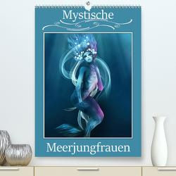 Mystische Meerjungfrauen (Premium, hochwertiger DIN A2 Wandkalender 2020, Kunstdruck in Hochglanz) von Pic A.T.Art,  Illu