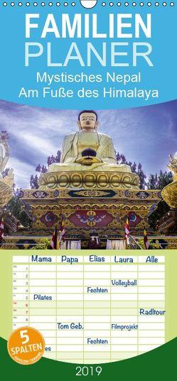 Mystisches Nepal – Am Fuße des Himalaya – Familienplaner hoch (Wandkalender 2019 , 21 cm x 45 cm, hoch) von Lama,  Christian