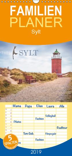 Mythos Sylt – Familienplaner hoch (Wandkalender 2019 , 21 cm x 45 cm, hoch) von Wiemer,  Dirk