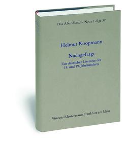 Nachgefragt von Koopmann,  Helmut